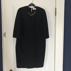 Victoria Beckham chain embellished crepe dress